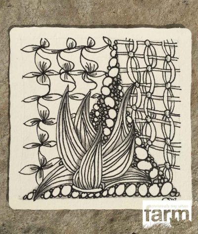 Messy-tangle Zentangle