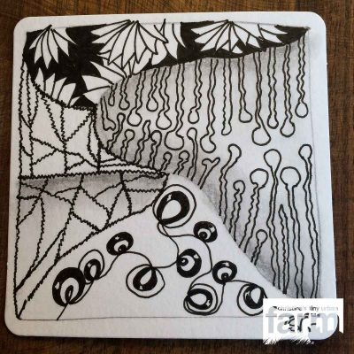 First Messy-tangle Zentangle